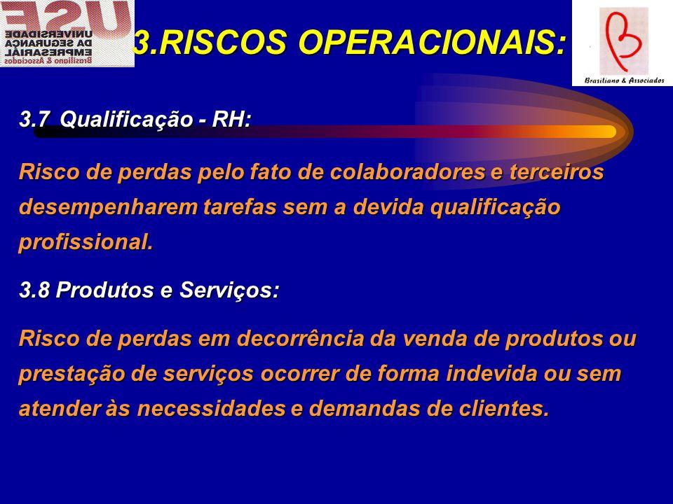 3.RISCOS OPERACIONAIS: 3.7 Qualificação - RH: