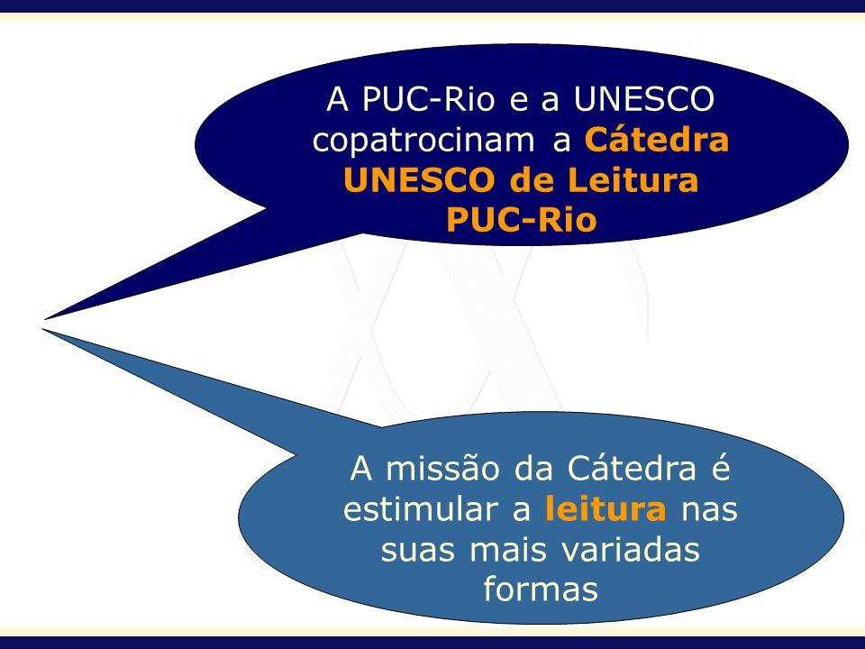 A PUC-Rio e a UNESCO copatrocinam a Cátedra UNESCO de Leitura PUC-Rio
