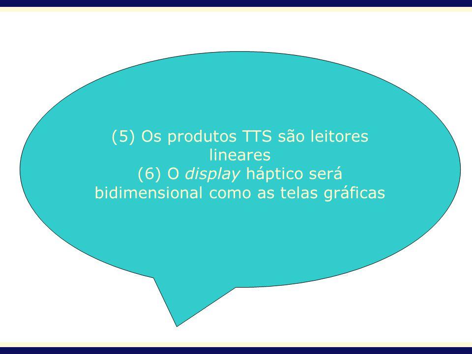 (5) Os produtos TTS são leitores lineares