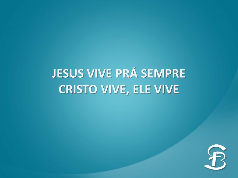 JESUS VIVE PRÁ SEMPRE CRISTO VIVE, ELE VIVE