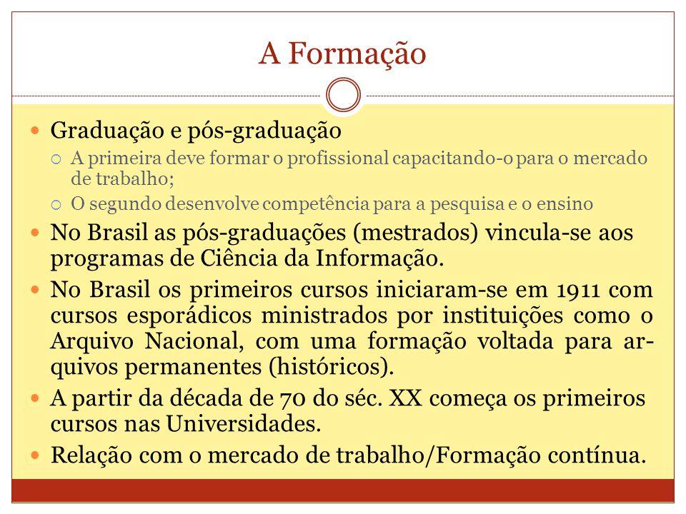 A Formação Graduação e pós-graduação