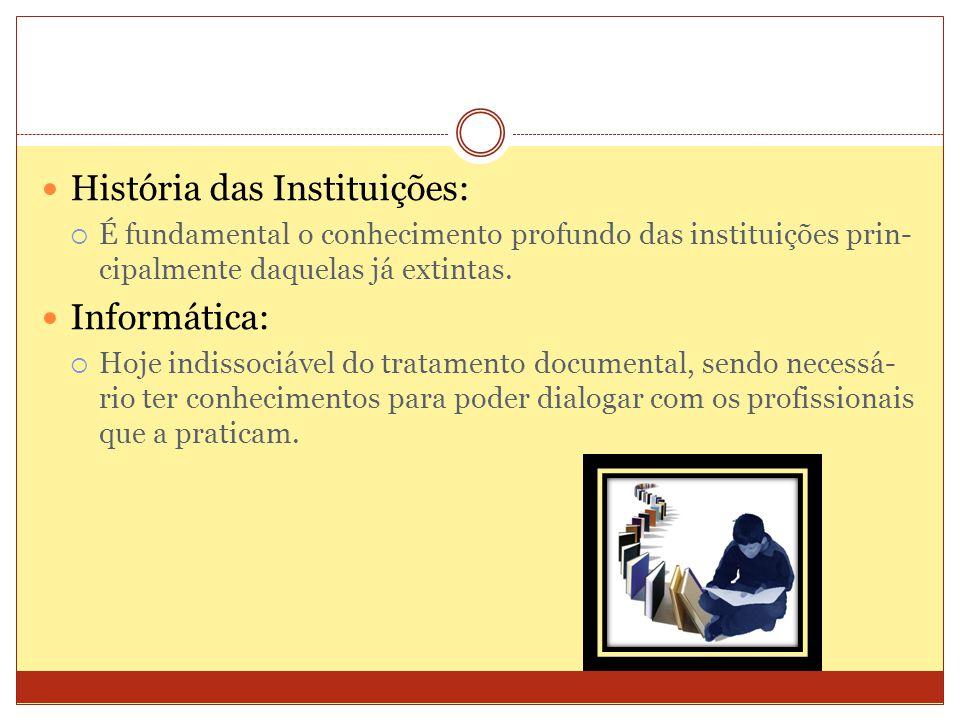 História das Instituições: