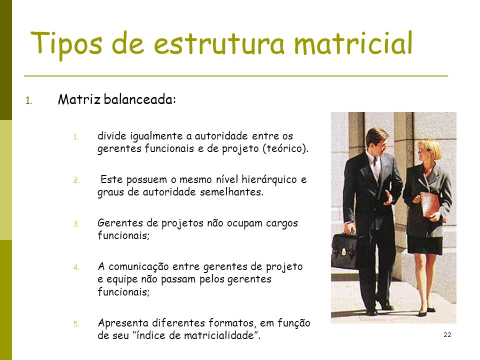 Tipos de estrutura matricial