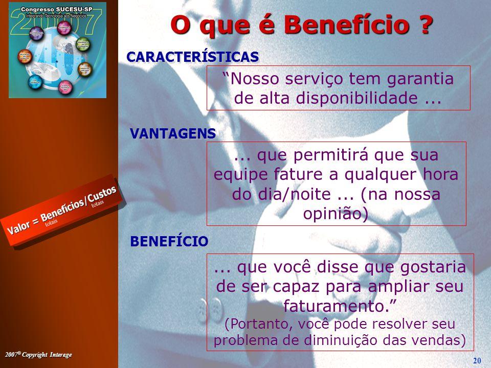 O que é Benefício CARACTERÍSTICAS. Nosso serviço tem garantia de alta disponibilidade ... VANTAGENS.