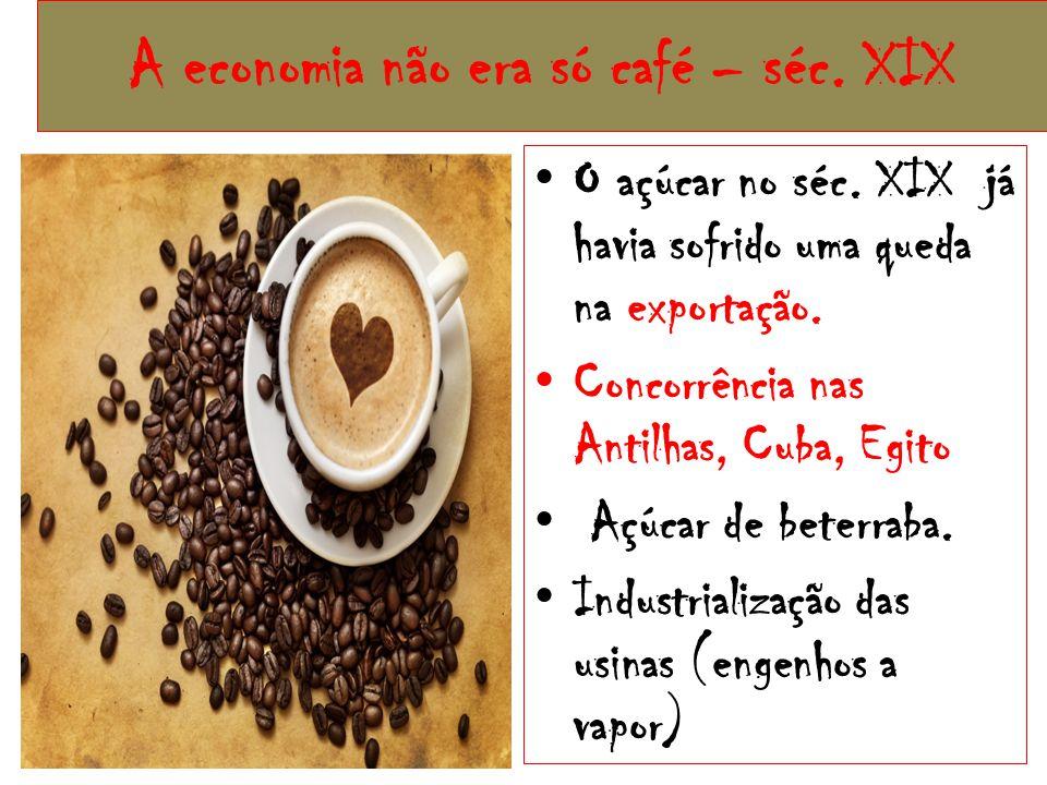 A economia não era só café – séc. XIX