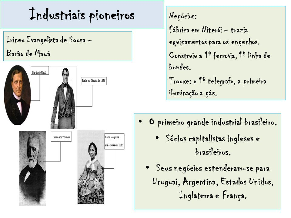 Industriais pioneiros