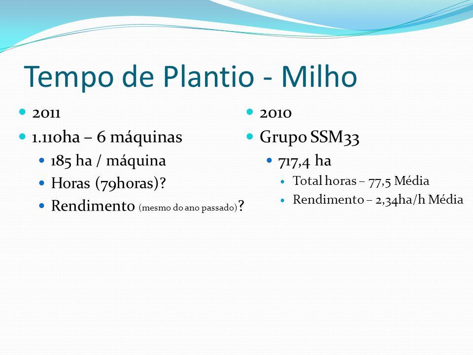 Tempo de Plantio - Milho