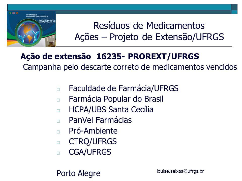 Ações – Projeto de Extensão/UFRGS