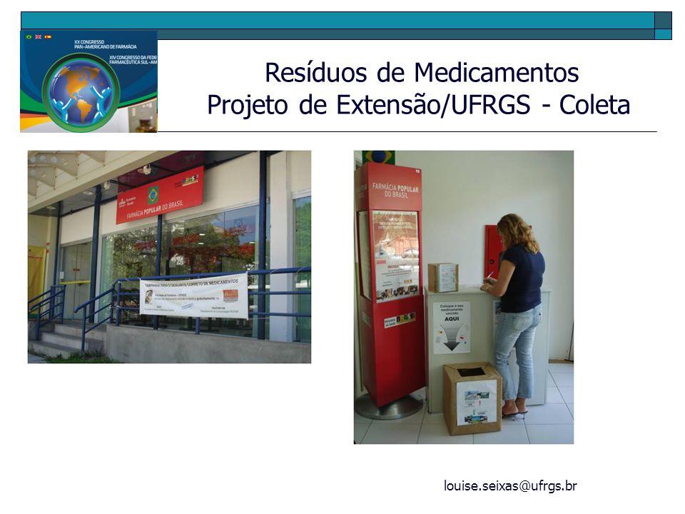 Projeto de Extensão/UFRGS - Coleta