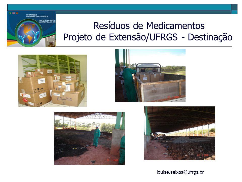 Projeto de Extensão/UFRGS - Destinação