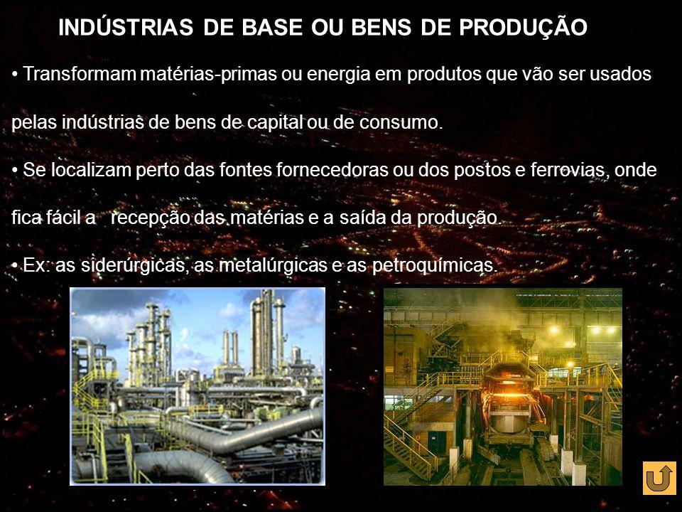 INDÚSTRIAS DE BASE OU BENS DE PRODUÇÃO