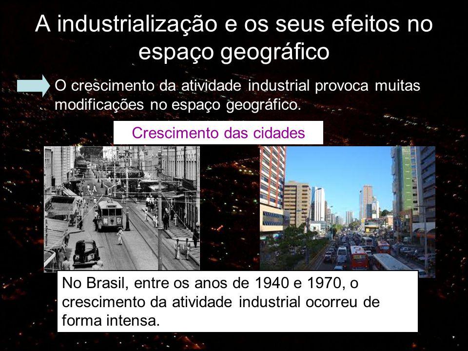 A industrialização e os seus efeitos no espaço geográfico
