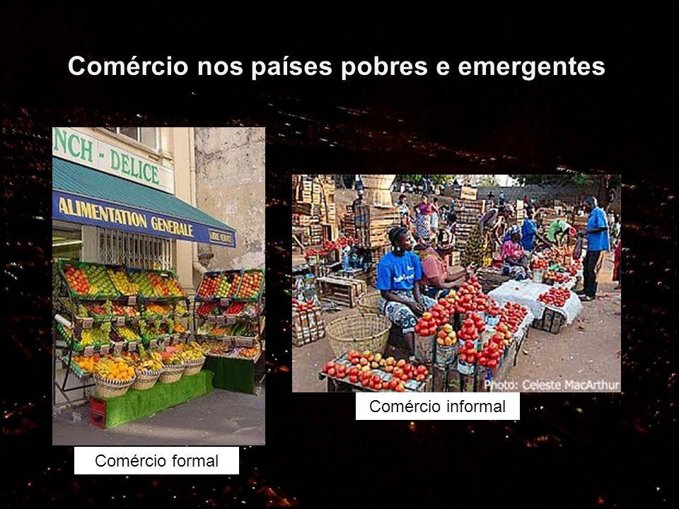 Comércio nos países pobres e emergentes