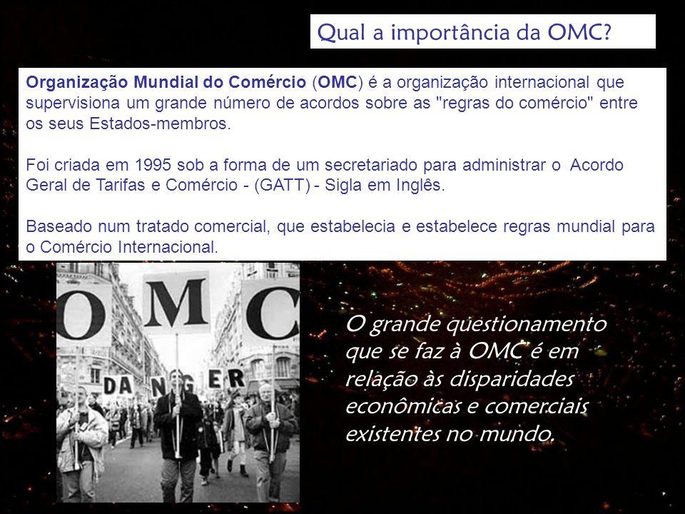 Qual a importância da OMC