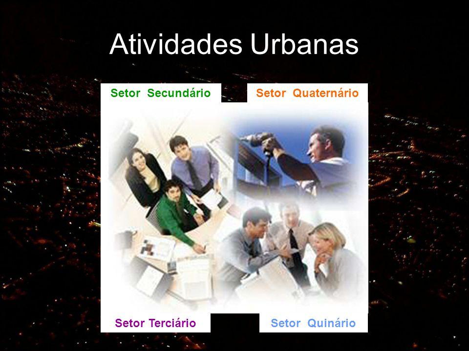 Atividades Urbanas Setor Secundário Setor Quaternário Setor Terciário