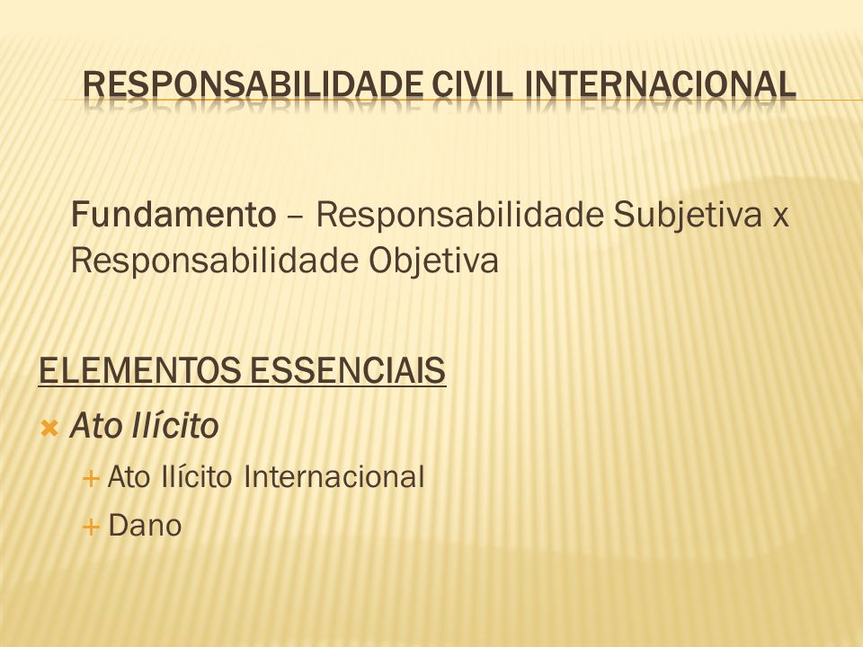 Responsabilidade civil internacional