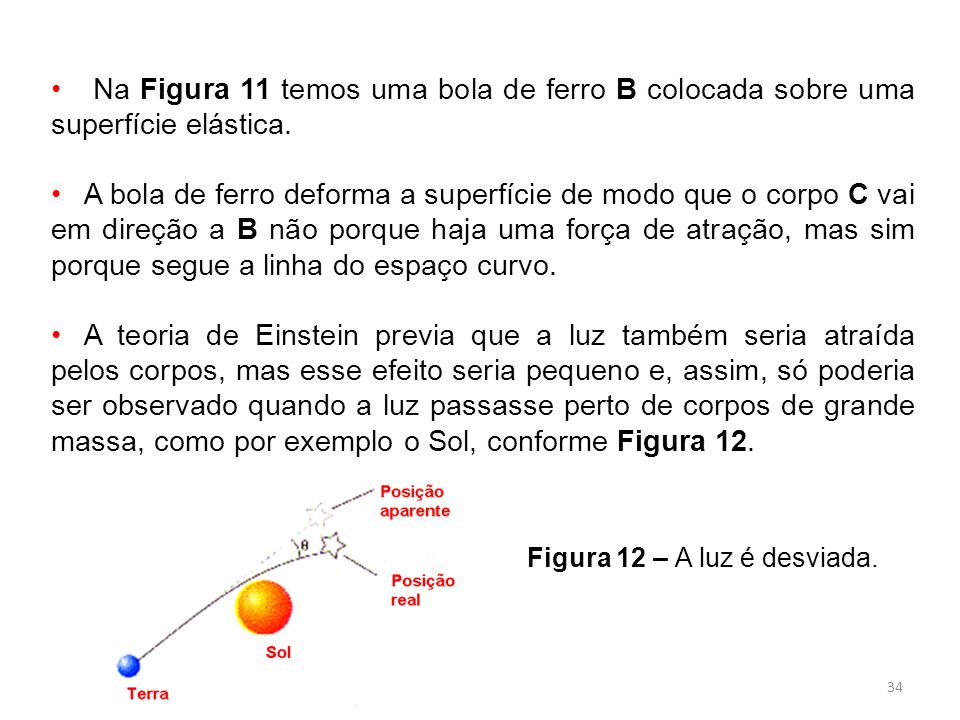 Na Figura 11 temos uma bola de ferro B colocada sobre uma superfície elástica.
