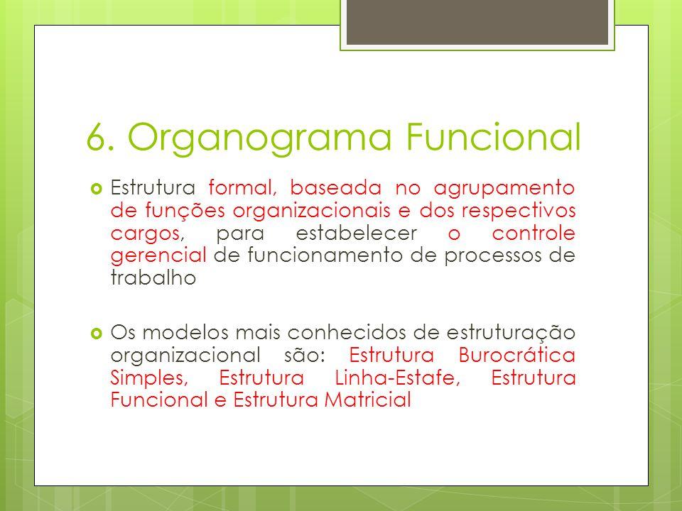 6. Organograma Funcional