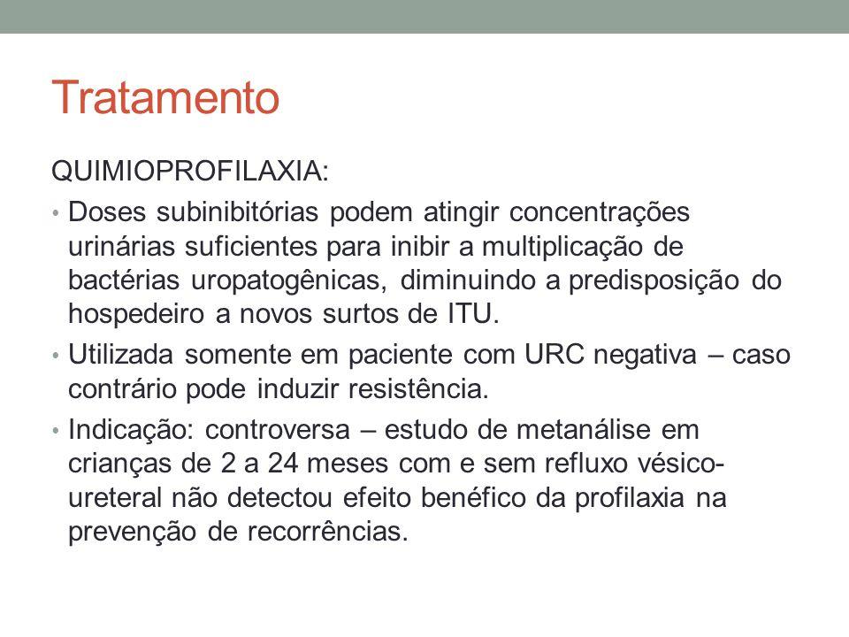 Tratamento QUIMIOPROFILAXIA: