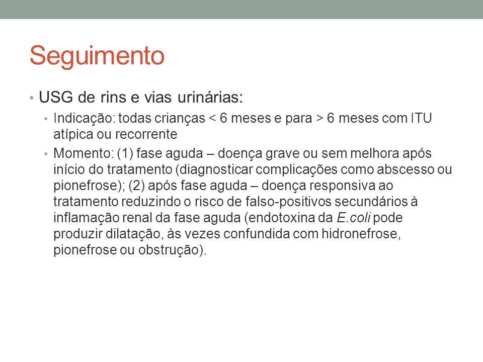 Seguimento USG de rins e vias urinárias: