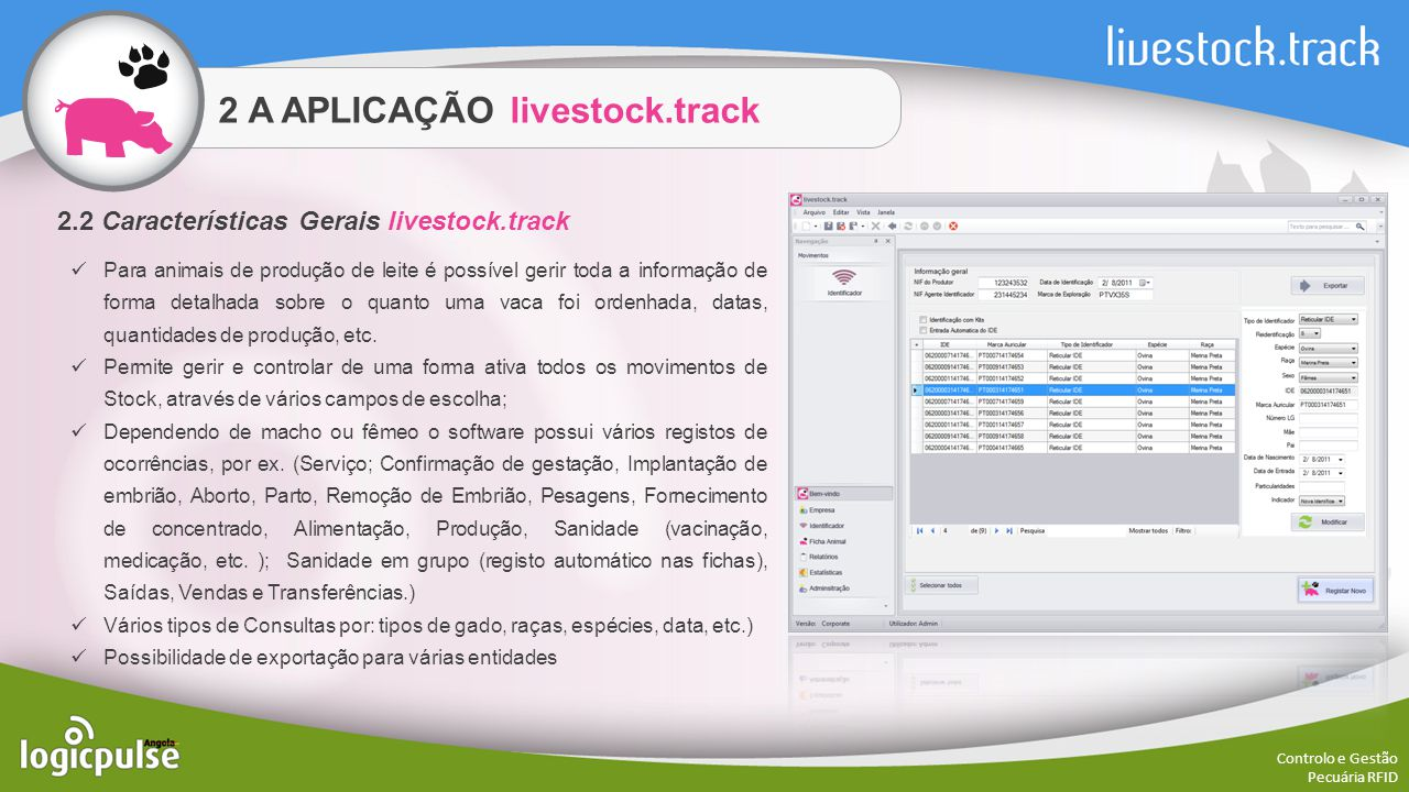 2 A APLICAÇÃO livestock.track