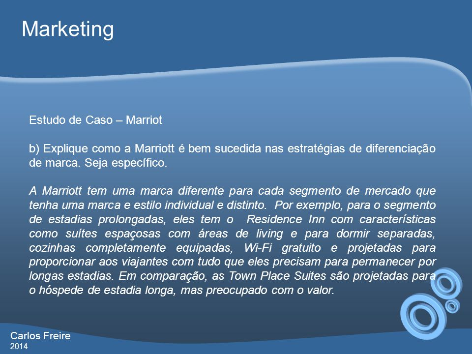 Marketing Estudo de Caso – Marriot