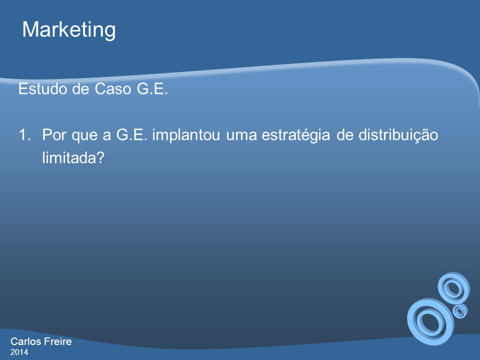 Marketing Estudo de Caso G.E.