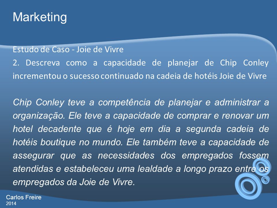 Marketing Estudo de Caso - Joie de Vivre
