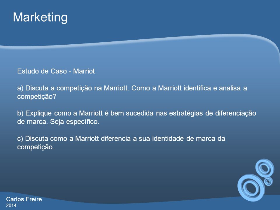Marketing Estudo de Caso - Marriot