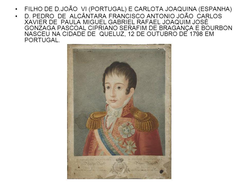 FILHO DE D.JOÃO VI (PORTUGAL) E CARLOTA JOAQUINA (ESPANHA)