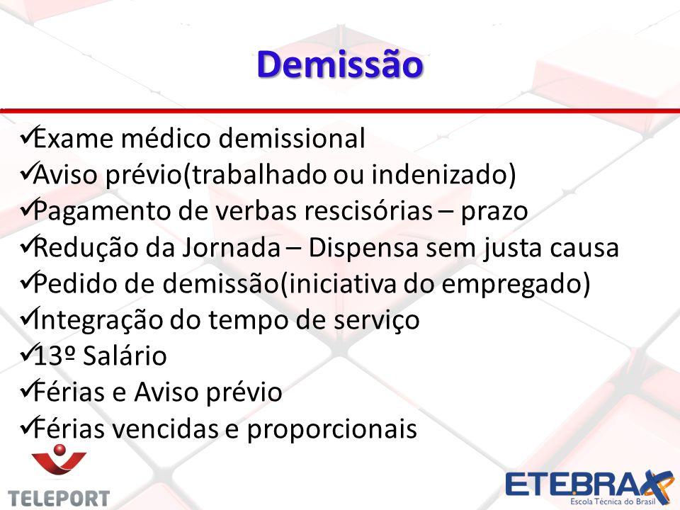 Demissão Exame médico demissional