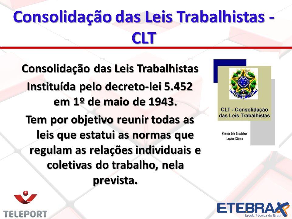 Consolidação das Leis Trabalhistas - CLT