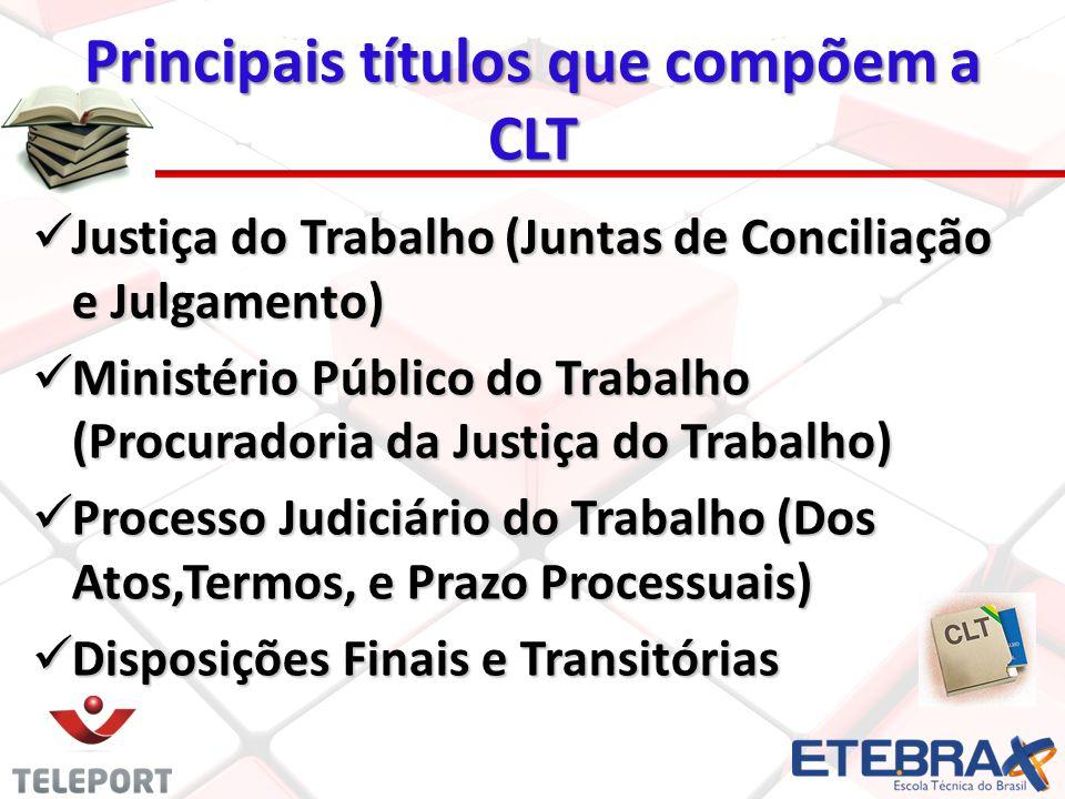 Principais títulos que compõem a CLT