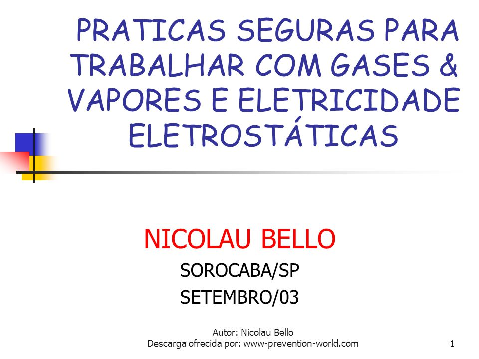 NICOLAU BELLO SOROCABA/SP SETEMBRO/03