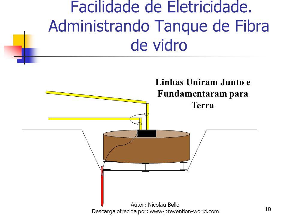 Facilidade de Eletricidade. Administrando Tanque de Fibra de vidro