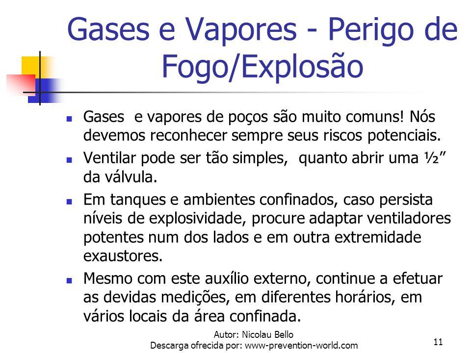 Gases e Vapores - Perigo de Fogo/Explosão