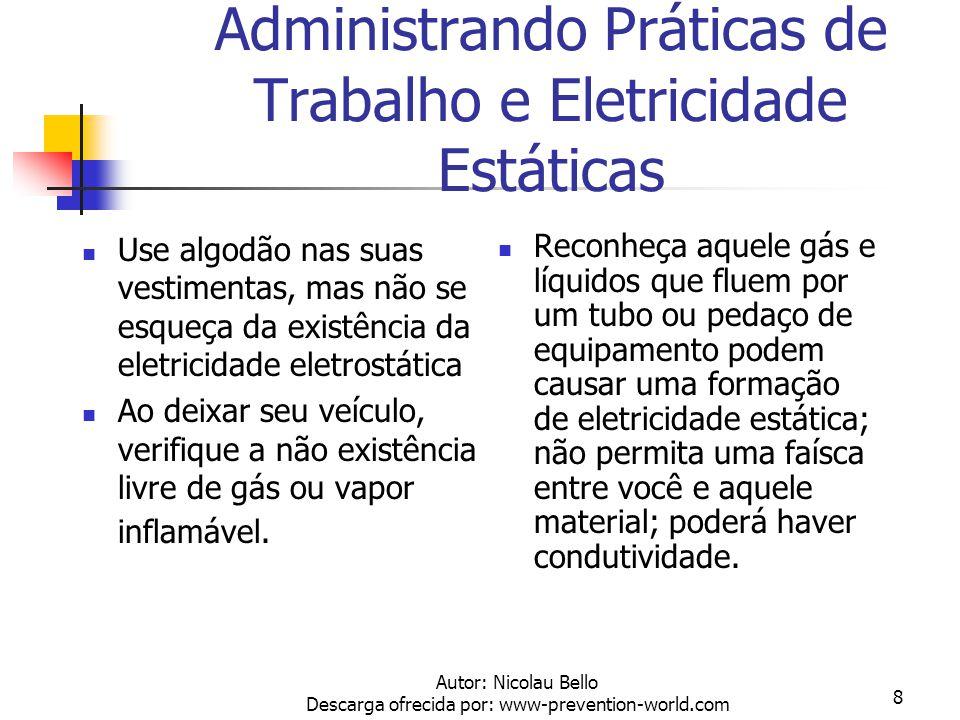 Administrando Práticas de Trabalho e Eletricidade Estáticas