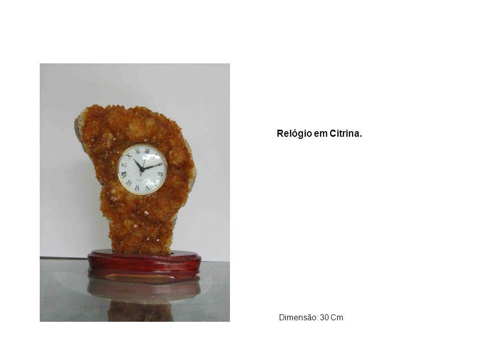 Relógio em Citrina. Dimensão: 30 Cm