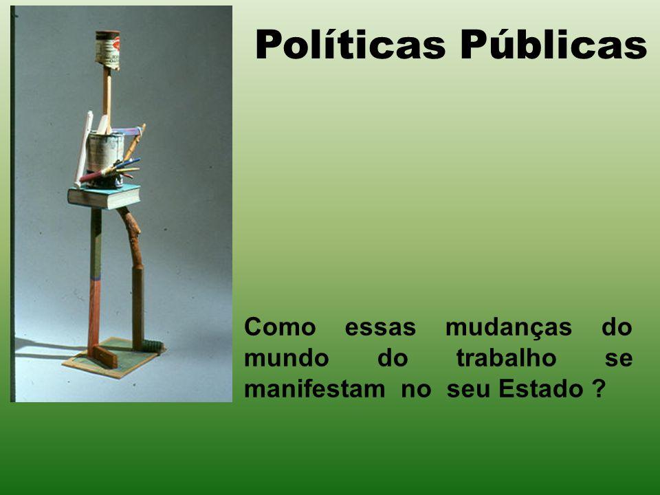 Políticas Públicas Como essas mudanças do mundo do trabalho se manifestam no seu Estado