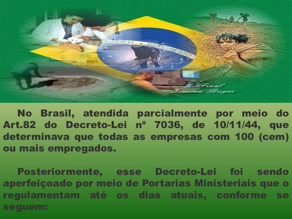 No Brasil, atendida parcialmente por meio do Art