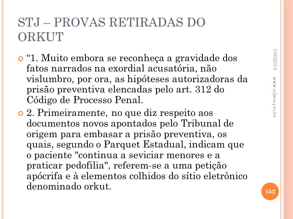STJ – PROVAS RETIRADAS DO ORKUT
