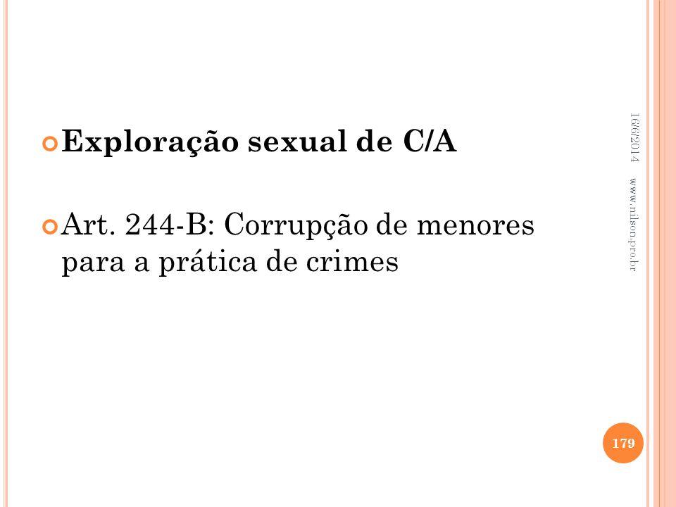 Exploração sexual de C/A