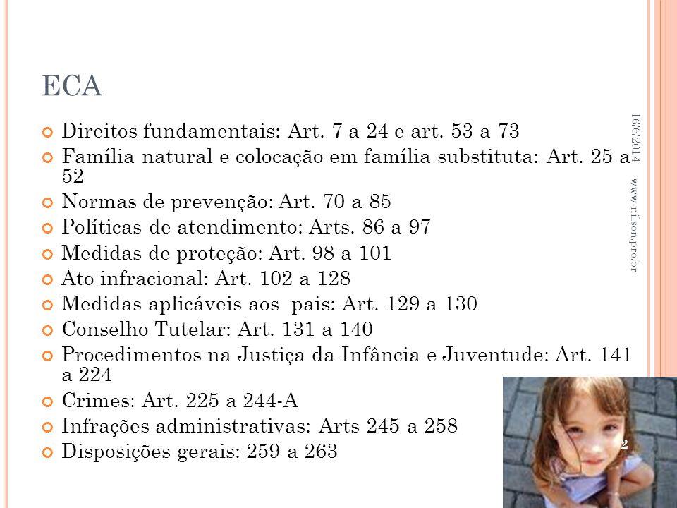 ECA Direitos fundamentais: Art. 7 a 24 e art. 53 a 73