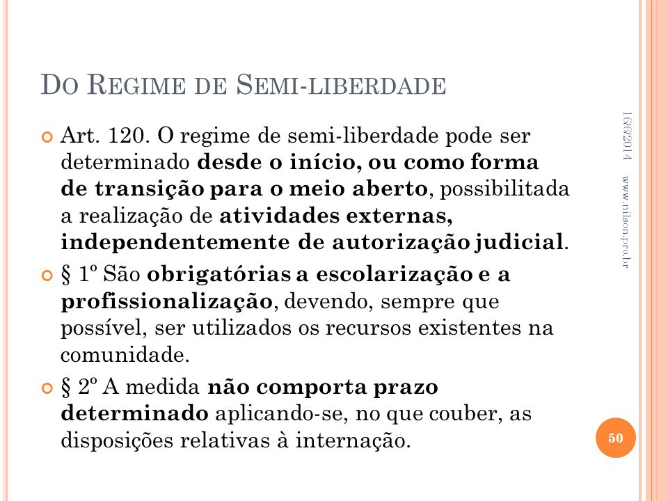 Do Regime de Semi-liberdade
