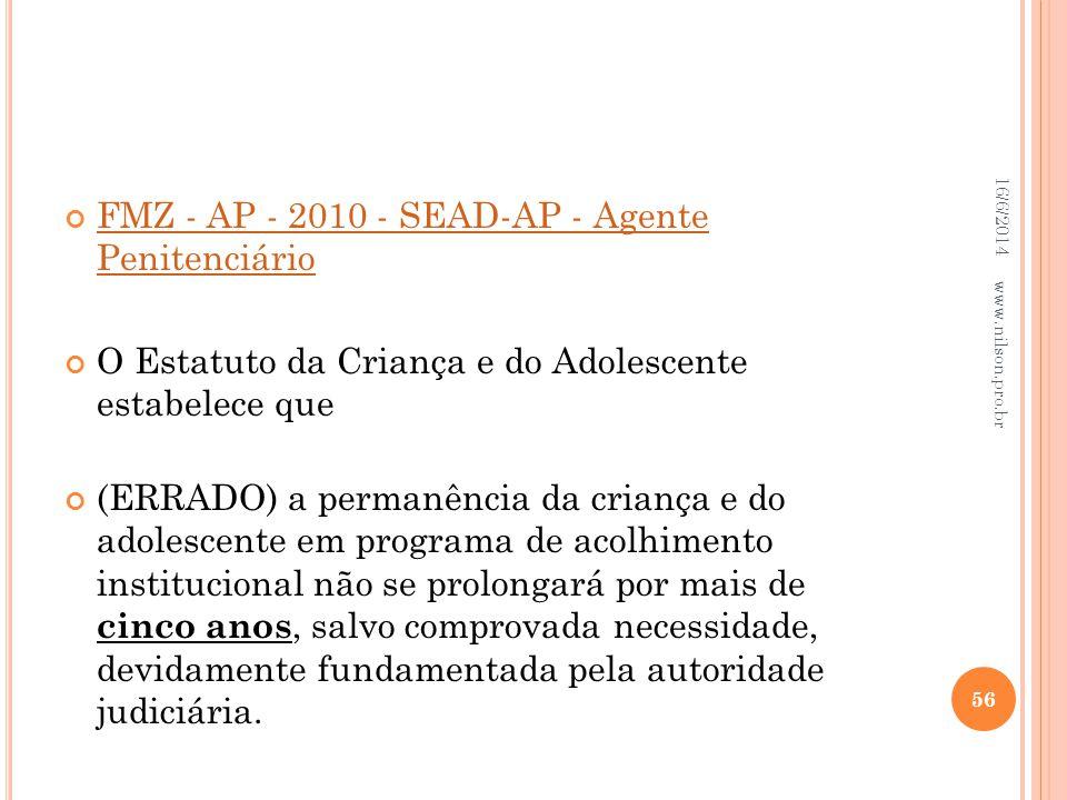 FMZ - AP - 2010 - SEAD-AP - Agente Penitenciário