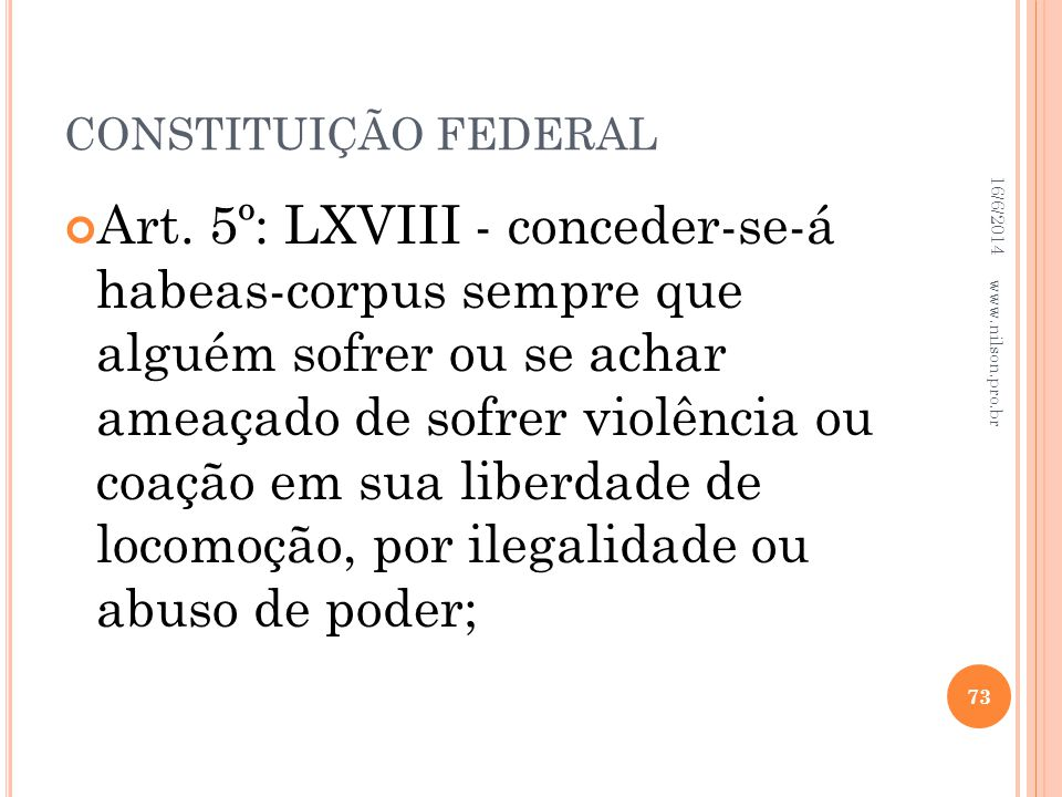 CONSTITUIÇÃO FEDERAL 02/04/2017.