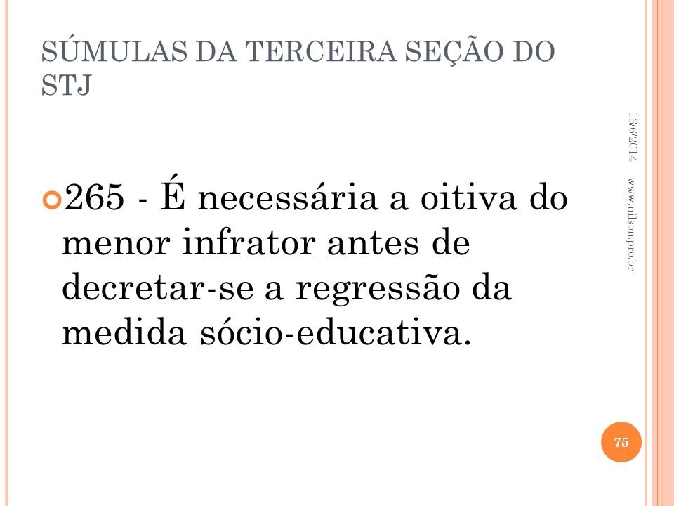 SÚMULAS DA TERCEIRA SEÇÃO DO STJ