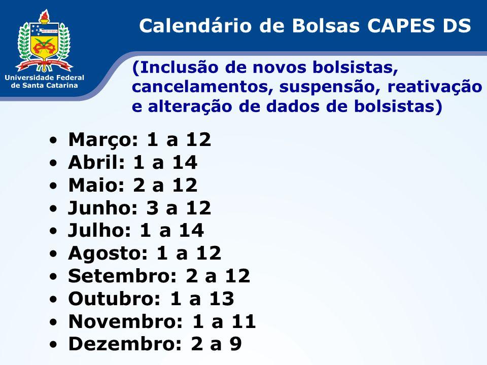Calendário de Bolsas CAPES DS