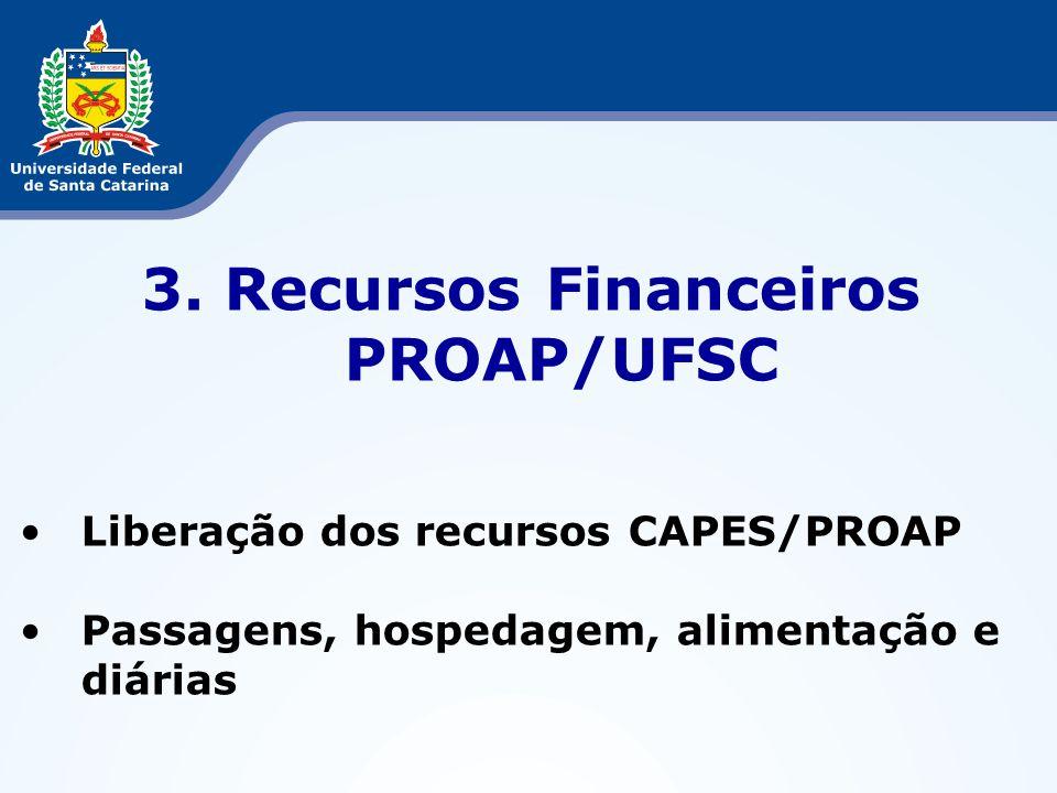 3. Recursos Financeiros PROAP/UFSC