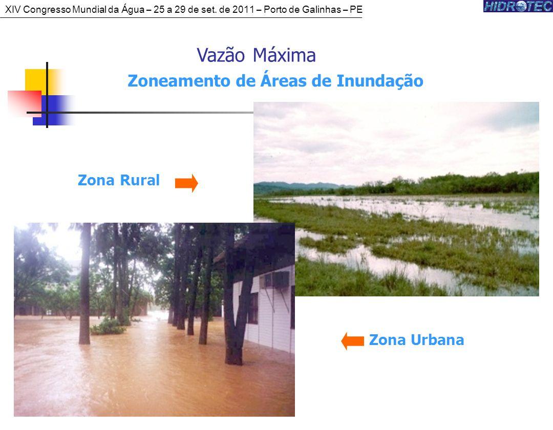 Vazão Máxima Zoneamento de Áreas de Inundação Zona Urbana Zona Rural